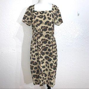 Banana Republic Short Sleeve Leopard Print Dress